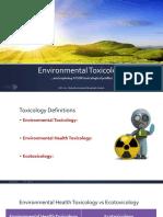 8 Environmental Toxicology ATSDR Tox Profiles