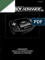 Gameboy Advance Booket Instruction Manual