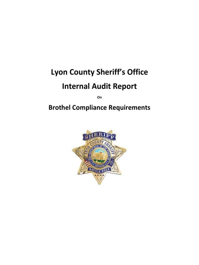 LCSO Internal Audit Report Brothels   Human Trafficking