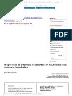 Diagnósticos de Enfermería en Pacientes Con Insuficiencia Renal Crónica en Hemodiálisis