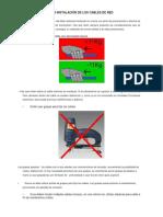 Precauciones en La Instalación de Los Cables de Red