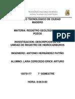 Descripción de La Unidad de Registro de Hidrocarburos Erick