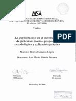 La Explicitación en El Subtitulado de Películas- Teorías, Propuesta Metodológica y Aplicación Práctica
