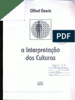 A Interpretação Das Culturas - Geertz - Cap 1 e 9