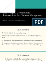 ebp project  telemedicine interventions for diabetes management