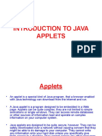 Introduction to Java Applets