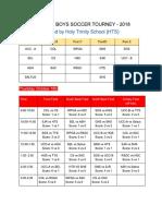 Cais u13 Boys Soccer Tourney - 2018