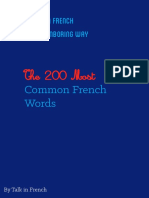 200 Most Frequent French Words