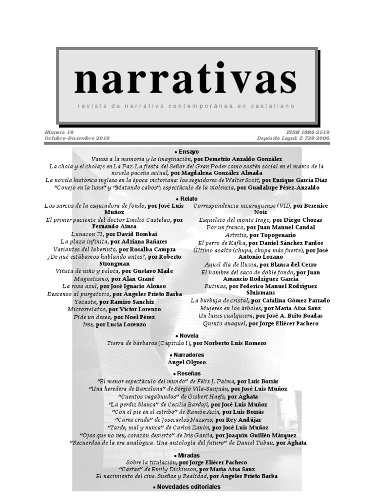 Revista Narrativas nº19