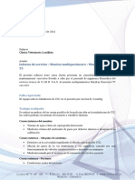 Informe de Servicio - Monitor de signos vitales - Mindray Beneview T5 - Reinhalación de CO2