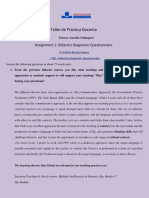 Donofrio. TPD 2018 - Didactics Diagnostic Questionnaire