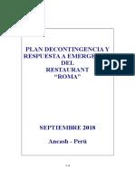 Plan de Contingencia y Respuesta a Emergencia Roma