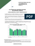 Tasa de Desocupacion 2013