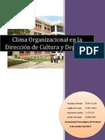 Clima Organizacional de la Dirección de Cultura y Deportes.docx