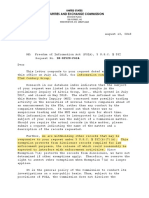 FOIA - Aug 13th Denial - 18-02520-FOIA (XXII - 22nd Century Group) - Name Redacted
