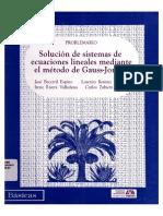 Solucion de Sistemas de Ecuaciones ALTA Azcapotzalco