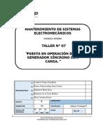 07 Puesta en Operación de Un Generador Síncrono Con Carga.- FINAL
