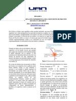 Informe de Laboratorio de Friccion