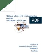 Rotariu - Cateva Observatii ice Asupra Sondajelor de Opinie