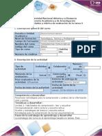 Guía de Actividades y Rúbrica de Evaluación - Ciclo de La Tarea - Tarea 2