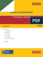 GEOSINTETICOS- Funciones y Selección