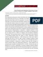 Positive Effects of Melatonin in Rams