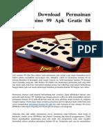 Panduan Download Permainan Judi Domino 99 Apk Gratis Di Android