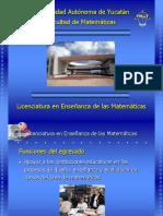 Licenciatura en La Enseñanza de Matematicas.pwp