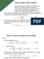 Partial Molar Free Energy