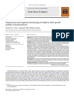Psychosocial and Cognitive Functioning of Children With Specific Profiles of Maltreatment