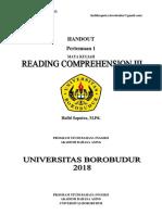 Modul Reading Comprehension III (Pertemuan 1).pdf