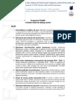 Propuneri Comisii Mixte de Dialog - Iulie, August, Septembrie, Octombrie 2018