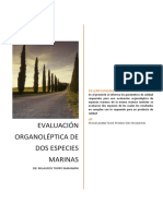 Analisis Organoleptico de Pesces