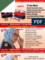 K-Ion Nano Nissa Sabyan Di Kota Tangerang WA 08114494181
