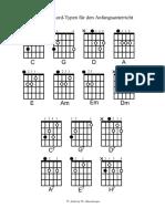 14 Grundakkorde Gitarre