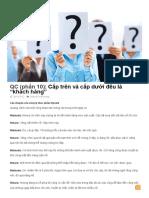 QC (Phần 10)_ Cấp Trên Và Cấp Dưới Đều Là _khách Hàng_ _ Vietfuji Techfocus