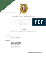 Sistemas Dinámicos de Primer Orden-Informe