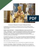 A l'intention du Métropolite de Zarapojié et Melitoupolis (Ukraine)