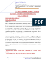 FOREIGN DIRECT INVESTMENT IN DEFENCE SECTOR SECURITY CONCERN OR STRENGTHENING INDIA'S DEFENCE.pdf