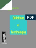 Definitions Et Terminologies