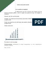 Fisa de analiza a unui produs metalic (cuiul) pentru disciplina Tehnologie (clasa a VII-a)
