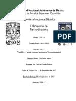 Practica No. 2 (Variables y Mediciones en Un Sistema Termodinamico)