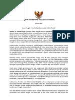 Siaran Pers BKPM 270116-Jawa Tengah Pertahankan Dominasi Di Sektor Tekstil