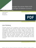 Analisis Kinerja Keuangan Perusahaan Rokok Di BEI Periode 2014-2018 Dengan Pendekatan Economic Value Added (EVA)