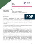 JD Team Leader in Paedriatic Drug Discovery Biology 2018 05 29