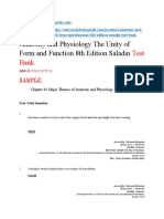 Anatomy and Physiology the Unity of Form and Function 8th Edition Saladin