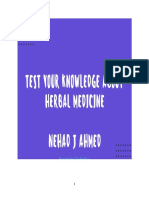 MCQs Questions in Herbal Medicine