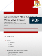Evaluating Left Atrial Function in Mitral Valve Disease