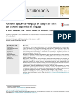 Funciones ejecutivas y lenguaje en subtipos de niños con trastorno especifico del lenguaje