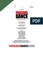 Parsons Dance 2019 Cs